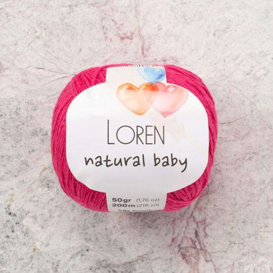 Loren Natural Baby Pembe El Örgü İpi - R095