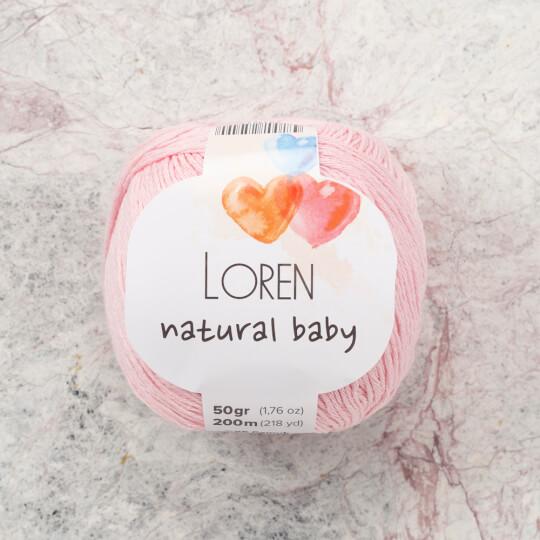 Loren Natural Baby Açık Pembe El Örgü İpi - R094