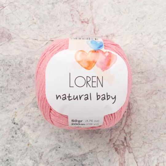 Loren Natural Baby Pembe El Örgü İpi - R103