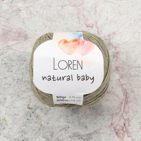 Loren Natural Baby Küf Yeşili El Örgü İpi - R089