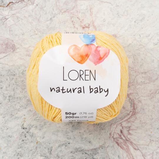 Loren Natural Baby Sarı El Örgü İpi - R086