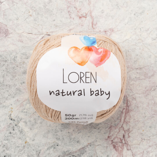 Loren Natural Baby Ten Rengi El Örgü İpi - R084