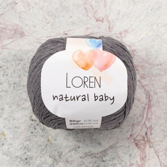 Loren Natural Baby Gri El Örgü İpi - R082