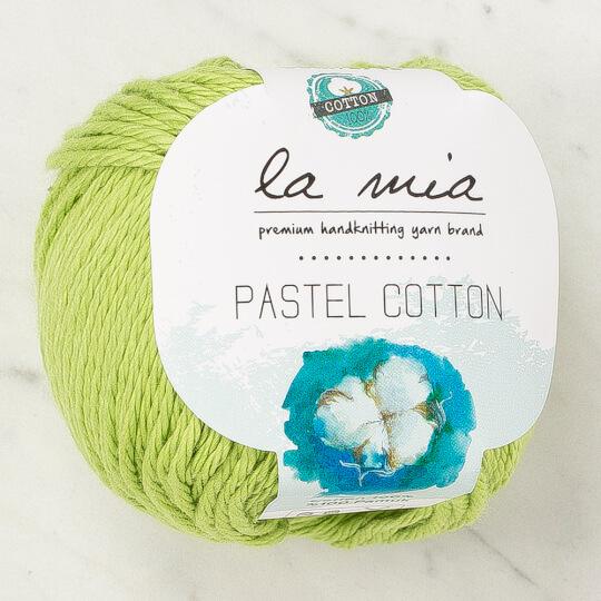 La Mia Pastel Cotton Fıstık Yeşili El Örgü İpi - L186