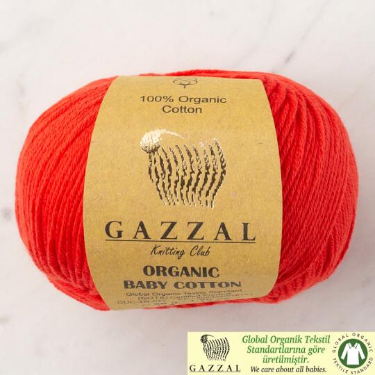 Gazzal Organic Baby Cotton Kırmızı Bebek Yünü - 432