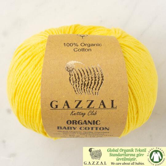 Gazzal Organic Baby Cotton Sarı Bebek Yünü - 420