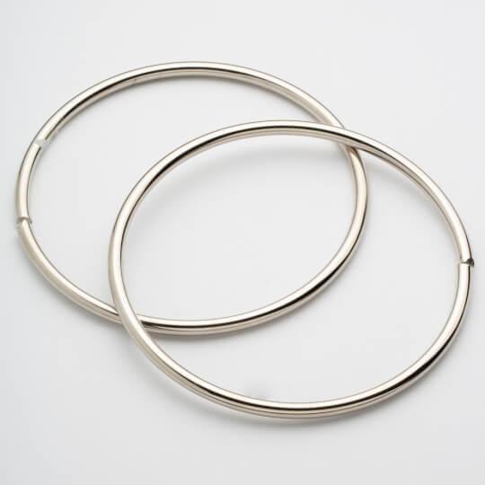 Loren Gümüş Renkli 2 Adet 13,5 cm Çanta Sapı