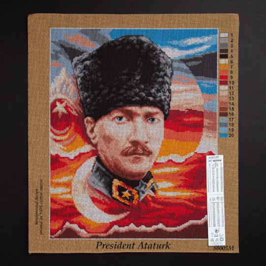 ORCHİDEA 40 x 50 cm Mustafa Kemal Atatürk Baskılı Goblen 80005M