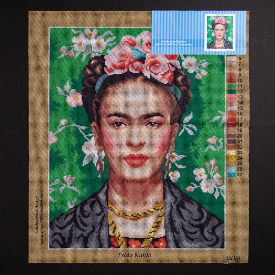ORCHİDEA 40 x 50 cm Frida Kahlo Baskılı Goblen 3213M