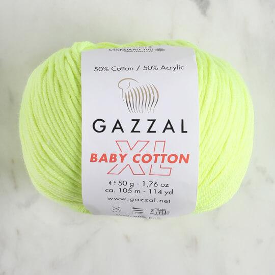 Gazzal Baby Cotton XL Fosforlu Sarı Bebek Yünü - 3462XL