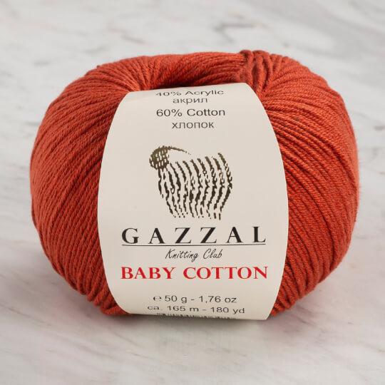 Gazzal Baby Cotton Tarçın Rengi Bebek Yünü - 3453