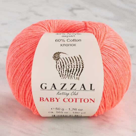 Gazzal Baby Cotton Neon Pembe Bebek Yünü - 3460