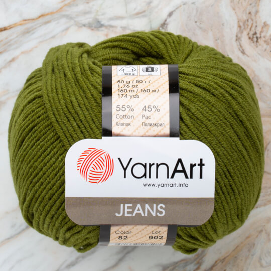 Yarnart Jeans Koyu Yeşil El Örgü İpi - 82