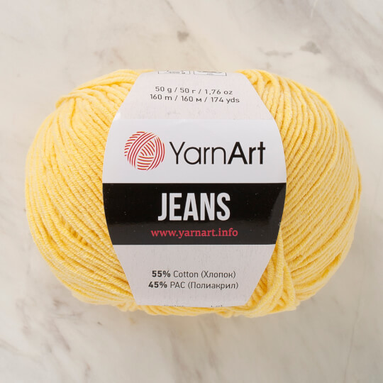 Yarnart Jeans Açık Sarı El Örgü İpliği - 88