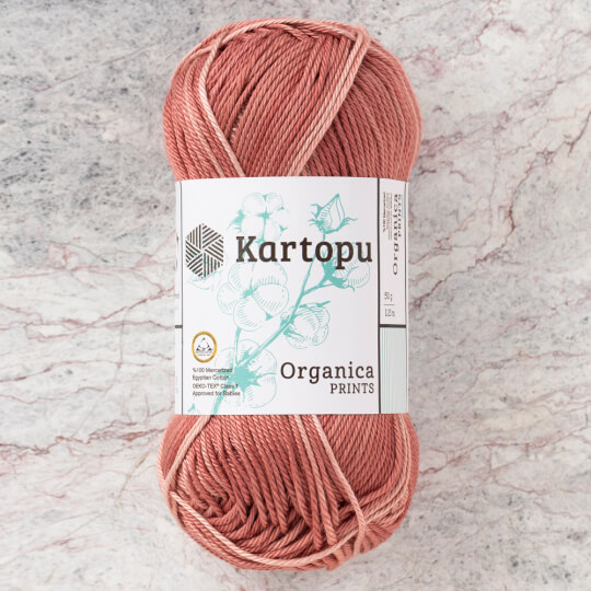 Kartopu Organica Prints 50gr Kahverengi El Örgü İpi - H2188