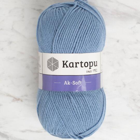 Kartopu Ak-soft Mavi El Örgü İpi - K644