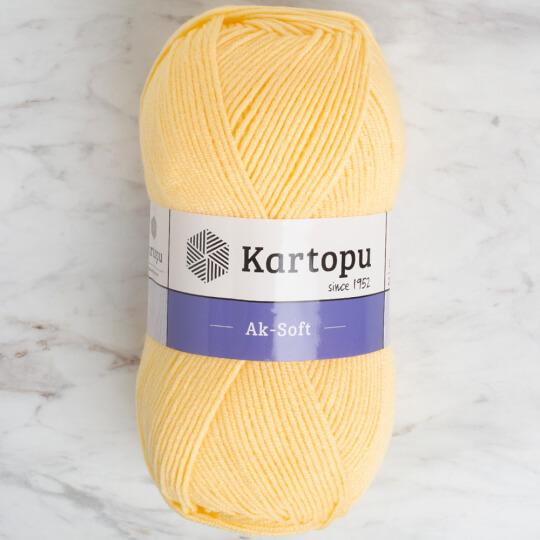 Kartopu Ak-soft Sarı El Örgü İpi - K309