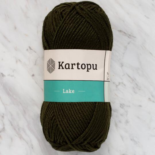 Kartopu Lake Koyu Yeşil El Örgü İpi - K478