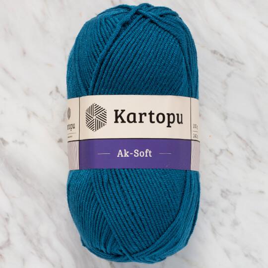 Kartopu Ak-Soft Petrol Mavisi El Örgü İpi - K1467