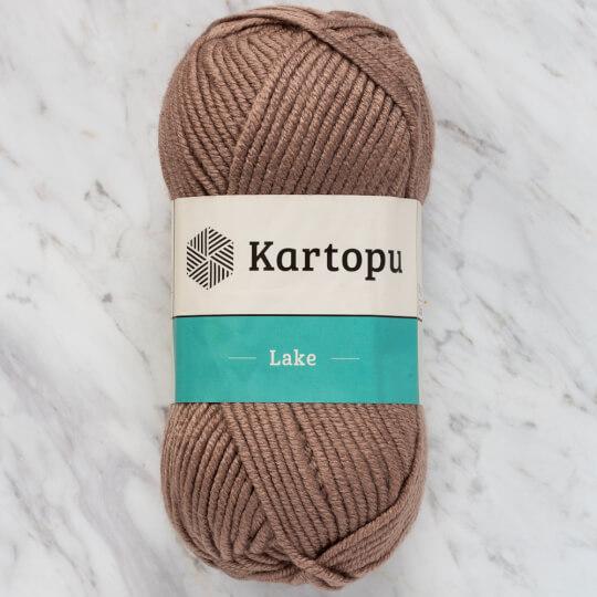 Kartopu Lake Koyu Bej El Örgü İpi - K828