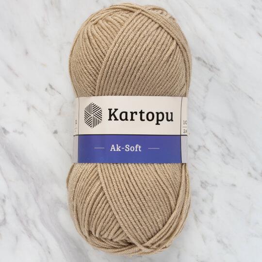 Kartopu Ak-Soft Bej El Örgü İpi - K1855