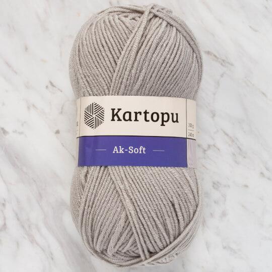Kartopu Ak-Soft Gri El Örgü İpi - K920