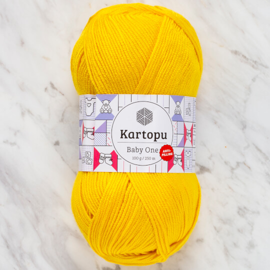 Kartopu Baby One Sarı El Örgü İpi - K1338