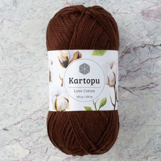Kartopu Love Cotton Koyu Kahverengi El Örgü İpi - K890