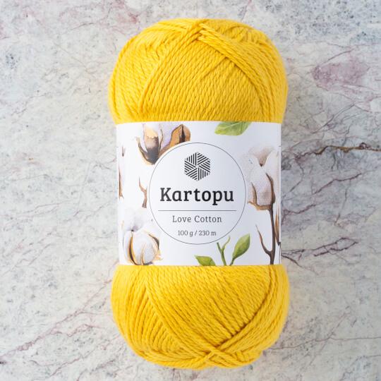 Kartopu Love Cotton Hardal Sarısı El Örgü İpi - K1321