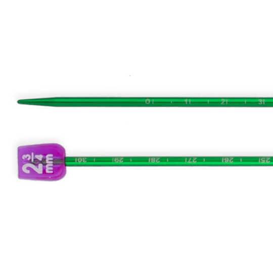 Pony Measure 2.75 mm 35 cm Yeşil Cetvelli Alüminyum Örgü Şişi- 34504