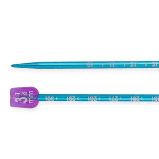 Pony Measure 3.25 mm 35 cm Açık Mavi Cetvelli Alüminyum Örgü Şişi - 34506