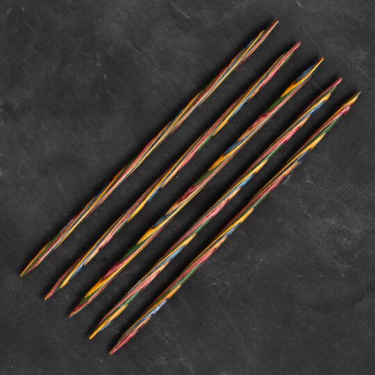 KnitPro Symfonie 5 mm 20 cm Ahşap 5'li Çorap Şişi - 20111
