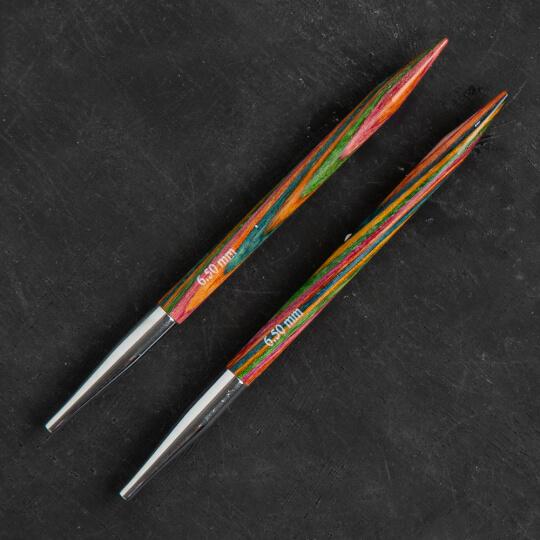 KnitPro Symfonie 6,5 mm Değiştirilebilir Ahşap Misinalı Şiş Ucu - 20408