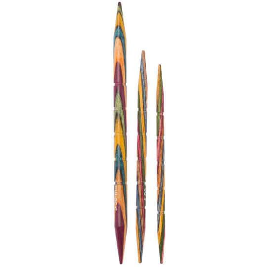 KnitPro Symfonie 3.25-4-5.5mm Ahşap Bükümlü - Saç Örgü Şişi - 20501