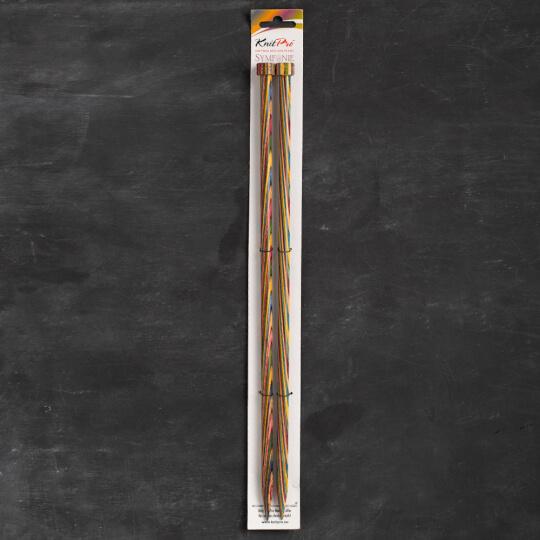 KnitPro Symfonie 9 mm 35 cm Ahşap Örgü Şişi - 20225