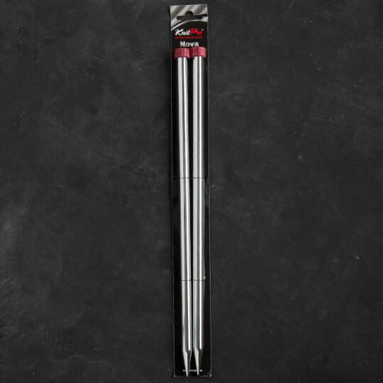 KnitPro Nova Metal 12 mm 35 cm Metal Örgü Şişi - 10227
