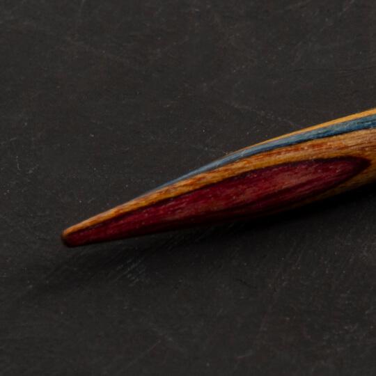 KnitPro Symfonie 5 mm 100 cm Ahşap Misinalı Şiş - 21354