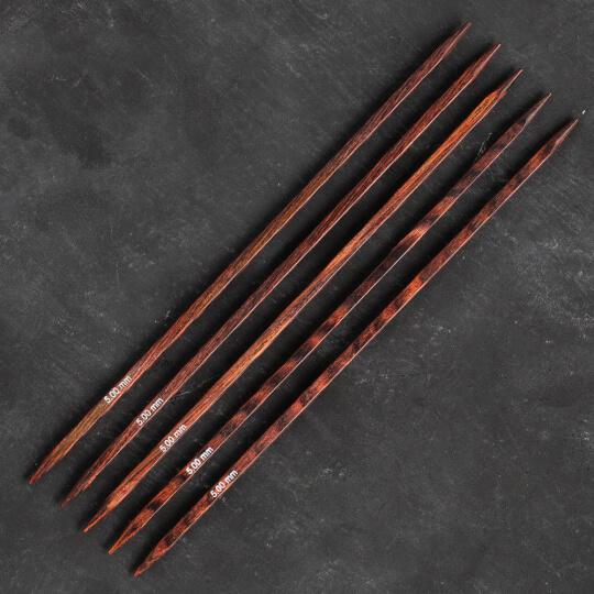Knitpro Symfonie Cubics 5mm 20cm Kübik Çorap Şişi - 25114