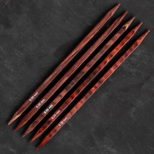 Knitpro Symfonie Cubics 8mm 20cm Kübik Çorap Şişi - 25119