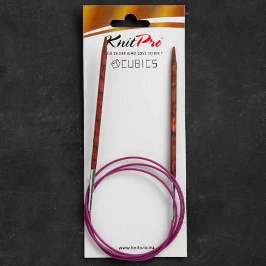 Knitpro Symfonie Cubics 5mm 100cm Kübik Misinalı Şiş - 25345