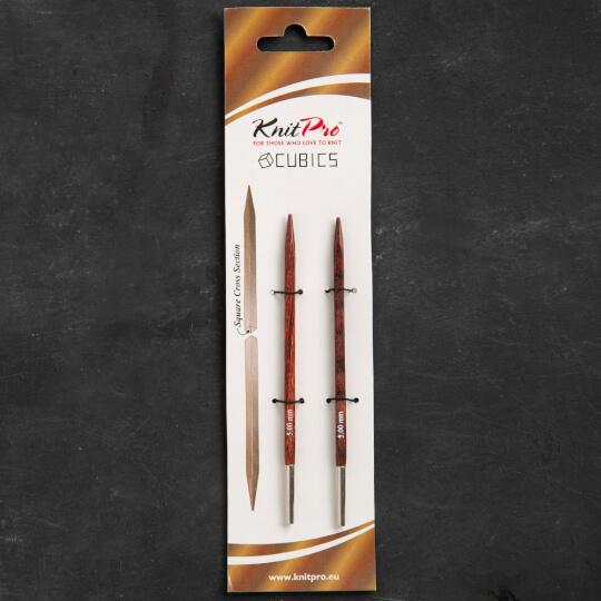 KnitPro Symfonie Cubics 5mm Değiştirilebilir Örgü Misina Şişi - 25403