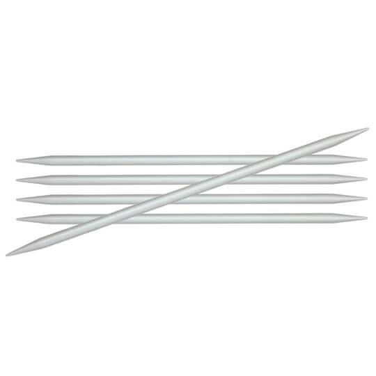 KnitPro Basix Aluminium 4 mm 20 cm Alüminyum 5'li Çorap Şişi - 45115