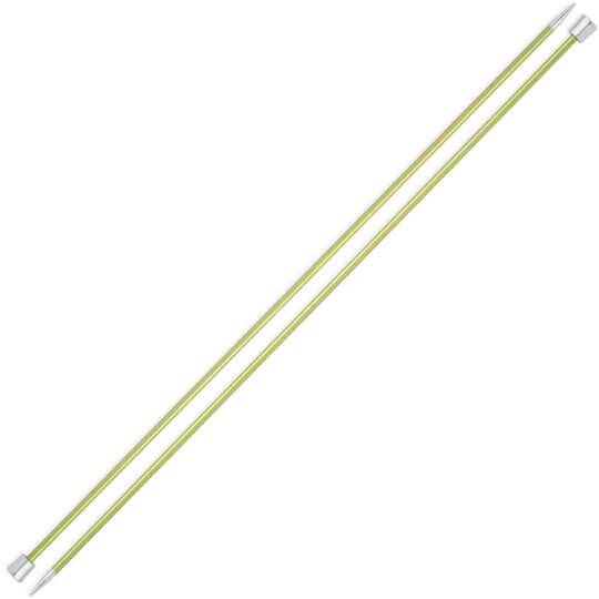 Knitpro Zing 3,5 mm 35 cm Yeşil Metal Örgü Şişi - 47297