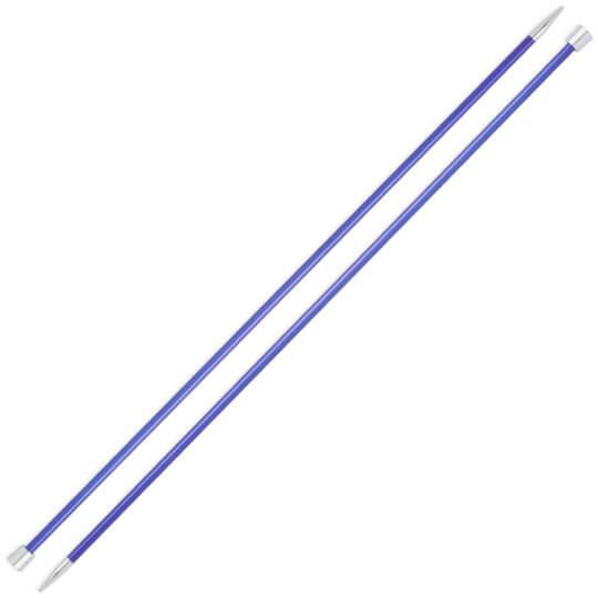 Knitpro Zing 4,5 mm 35 cm Mavi Metal Örgü Şişi - 47300