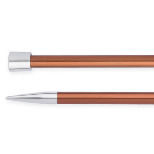 Knitpro Zing 5,5 mm 35 cm Kahverengi Metal Örgü Şişi - 47302