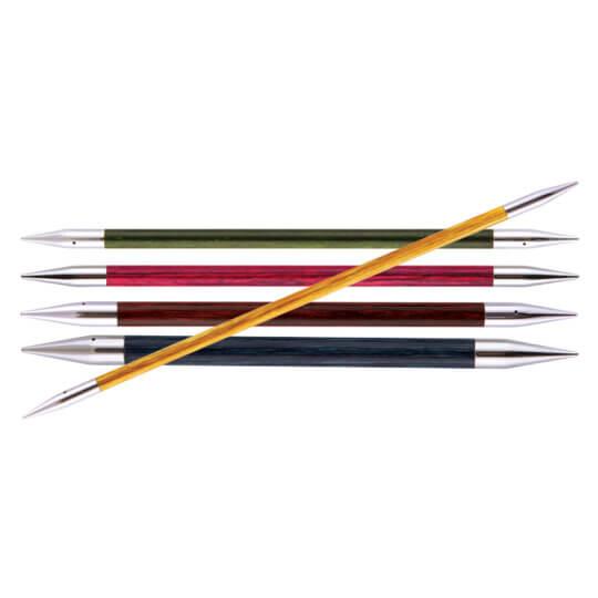 KnitPro Royale 2.5 mm 20 cm Gül Kırmızı Ahşap Çorap Şişi - 29031