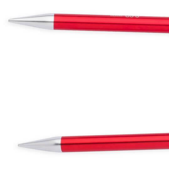 Knitpro Zing 9 mm 60 cm Kırmızı Metal Misinalı Şiş - 47107