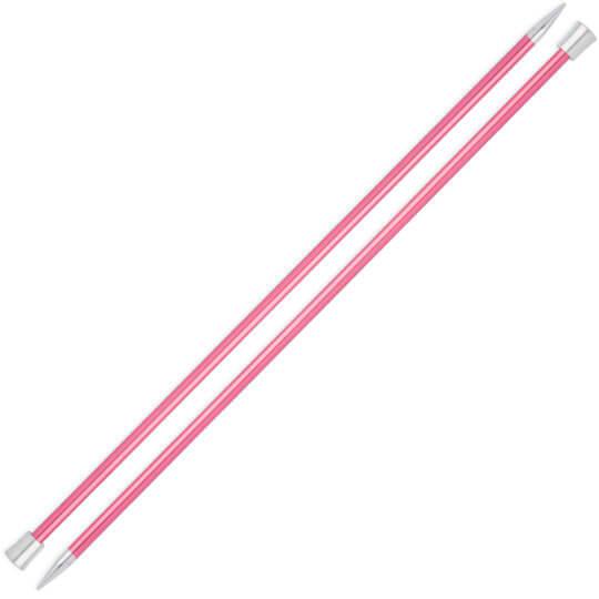 Knitpro Zing 6,5 mm 35 cm Pembe Metal Örgü Şişi - 47304