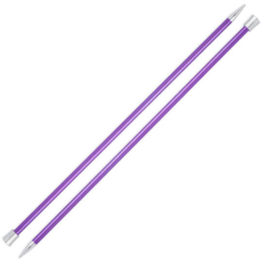 Knitpro Zing 7 mm 35 cm Mor Metal Örgü Şişi - 47305