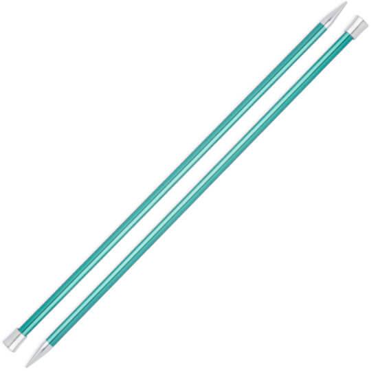 Knitpro Zing 8 mm 35 cm Yeşil Metal Örgü Şişi - 47306
